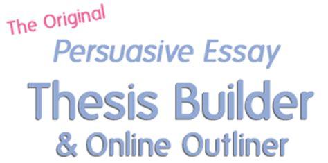 Argumentative thesis statement generator